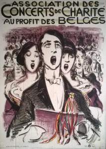 Affiche réfugiés belges
